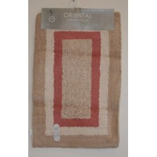 Bath Mat 1 Piece 100% cotton With Non Slip Backing #18