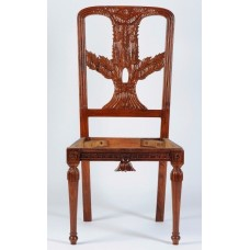 Carved Rosewood Timber Chair #11